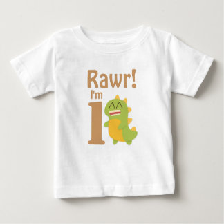 First Birthday, Rawr! I'm 1, Cute Dino Baby T-Shirt