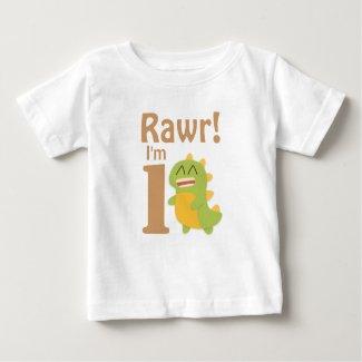 First Birthday, Rawr! I'm 1, Cute Dino