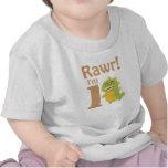 First Birthday, Rawr! I'm 1, Cute Dino T-shirts