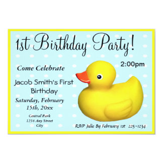 First Birthday Rubber Ducky Card