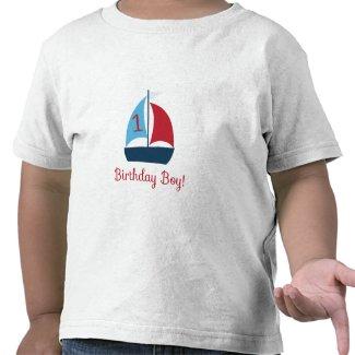 First Birthday Sail Boat T-Shirt shirt