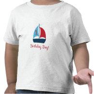 First Birthday Sail Boat T-Shirt