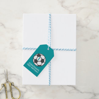 First Birthday Soccer Ball Favor Tag