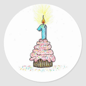 First Birthday Sticker sticker