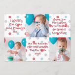 """First Birthday Thank You Card<br><div class=""""desc"""">Thank You Card for First Birthday!</div>"""