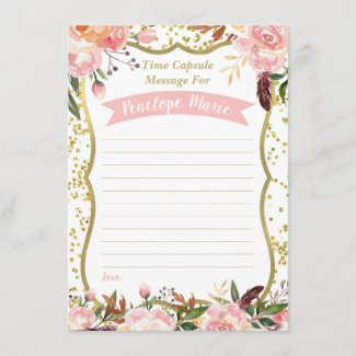 First Birthday Time Capsule Card