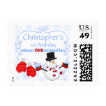 First Birthday Winter One-derland Snowman Cupcakes Stamp