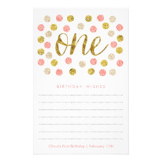 First Birthday Wish Cards |pink And Gold Glitter at Zazzle