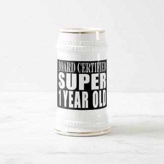First Birthdays Board Certified Super One Year Old Beer Stein