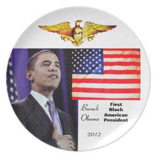 FIRST BLACK AMERICAN PRESIDENT plate