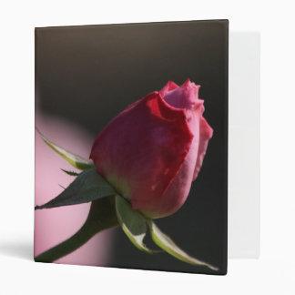 First Bloom: Pink Rosebud Binder