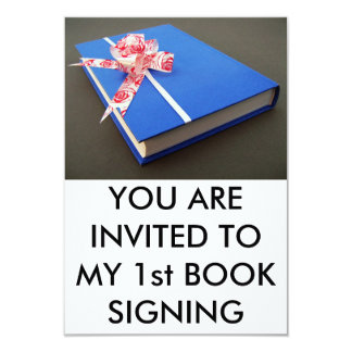 """First book signing 3.5"""" x 5"""" invitation card"""