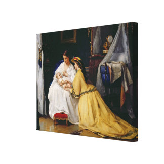 First Born, 1863 Stretched Canvas Print