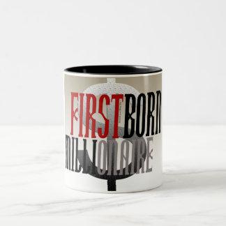 """First Born Millionaire"" Two-Tone Coffee Mug"