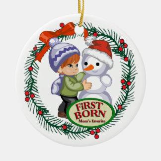First Born (Red Hair) Ceramic Ornament