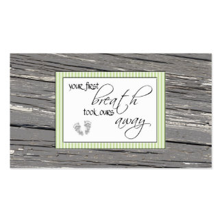 First Breath Double-Sided Standard Business Cards (Pack Of 100)