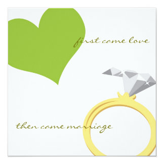 FIRST CAME LOVE-GREEN Invitation