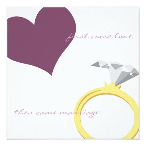 FIRST CAME LOVE-PURPLE Invitation