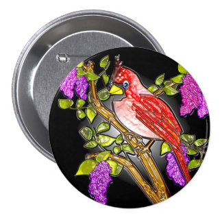 """First Cardinal (3"""" lapel pin) 3 Inch Round Button"""