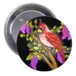 """First Cardinal (3"""" lapel pin) Button"""