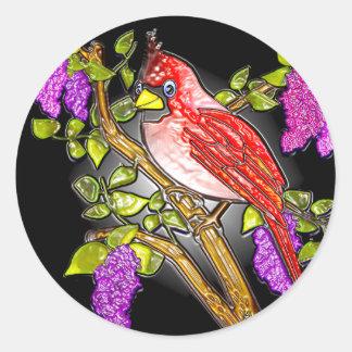 First Cardinal (stickers) Classic Round Sticker