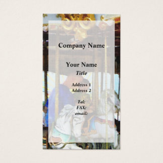 First Carousel Ride Business Card