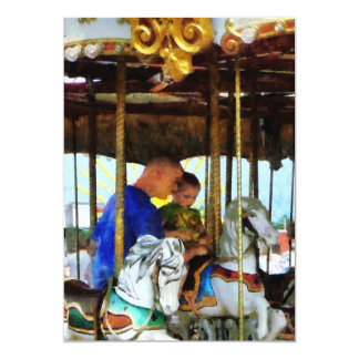 First Carousel Ride Card