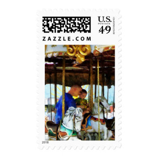 First Carousel Ride Postage