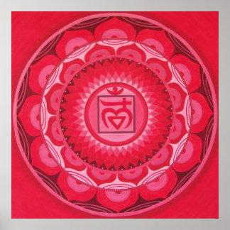 First Chakra Mandala Poster