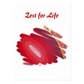 First Chakra Red Spirals Zest for Life Postcard