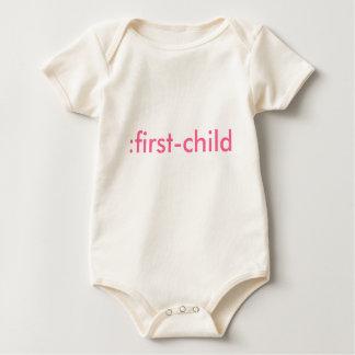:first-child organic baby bodysuit