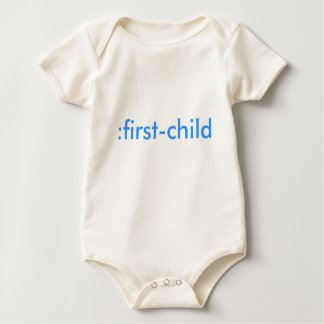 :first-child organic baby bodysuit