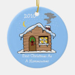 First Christmas As A Homeowner 2010 (Cabin) Christmas Ornament