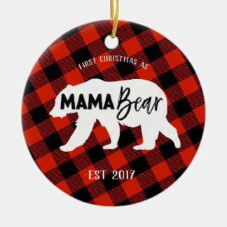 First Christmas as a Mama Bear Ornament
