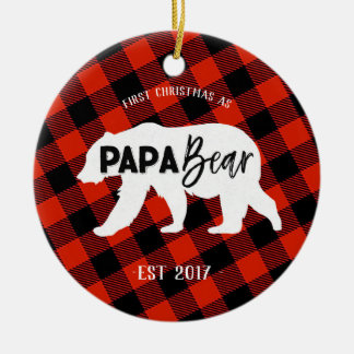 First Christmas as a Papa Bear Ornament