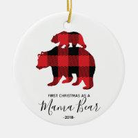 First Christmas as Mama Bear ornament