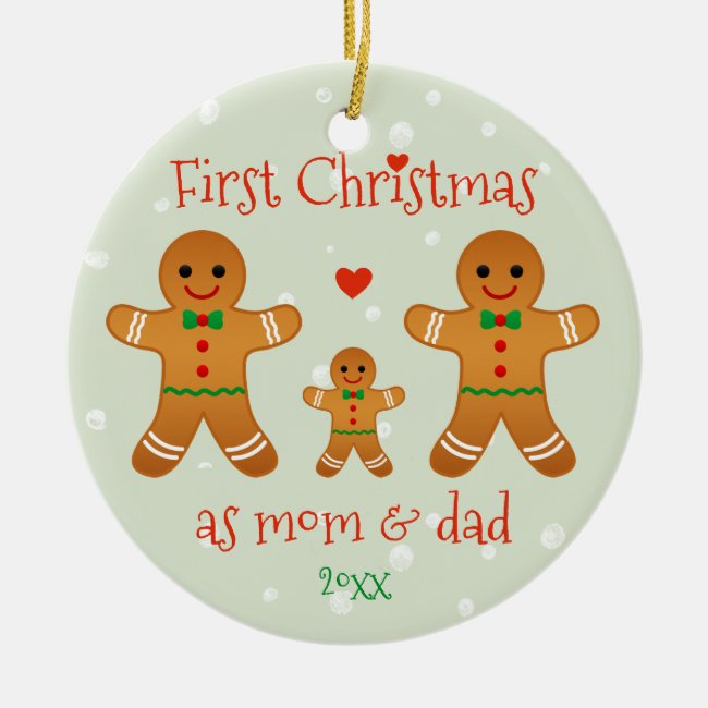 First Christmas as Mom & Dad - Gingerbread Men