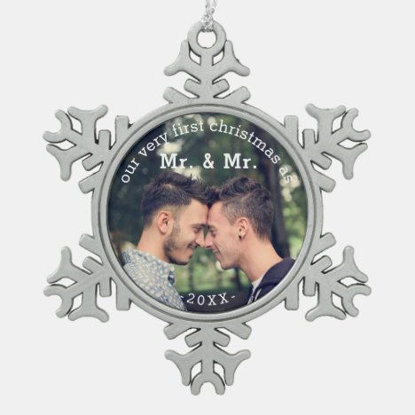 First Christmas as Mr & Mr Keepsake Ornament