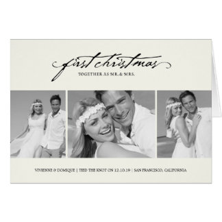 First Christmas As Mr. & Mrs. Holiday Greetings Card
