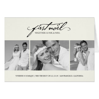 First Christmas As Mr. & Mrs. Holiday Greetings Greeting Card