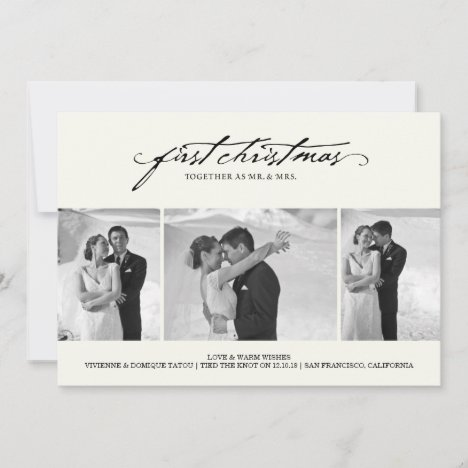 First Christmas As Mr. & Mrs. Holiday Photo Card