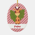 First Christmas Baby Giraffe Custom Christmas Ornament