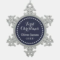 First Christmas Baby Keepsake Holiday Ornament