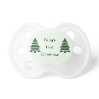 First Christmas Baby Pacifier