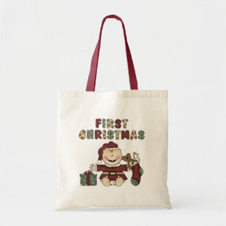 First Christmas Boy Tshirts and Gifts Canvas Bag