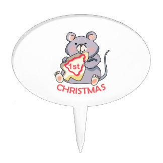First Christmas Cake Toppers