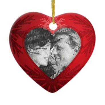 Valentines Themed First Christmas Couple Heart ornament