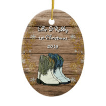 First Christmas Couples New Home Country Ceramic Ornament