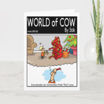 First Christmas Cow Holiday Card