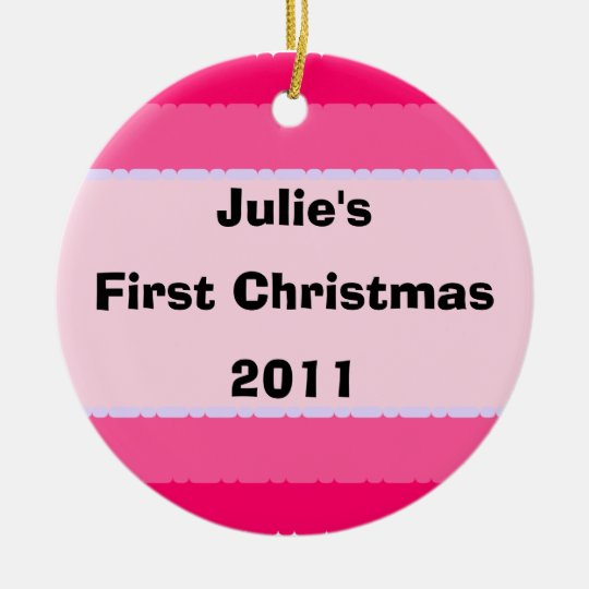 First Christmas Decoration Pink